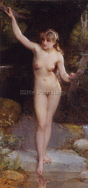 EMILE MUNIER ND 8 LA BAIGNEUSE ARTIST PAINTING REPRODUCTION HANDMADE OIL CANVAS