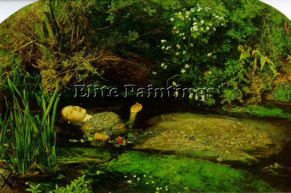 JOHN EVERETT MILLAIS OPHELIA2 ARTIST PAINTING REPRODUCTION HANDMADE CANVAS REPRO