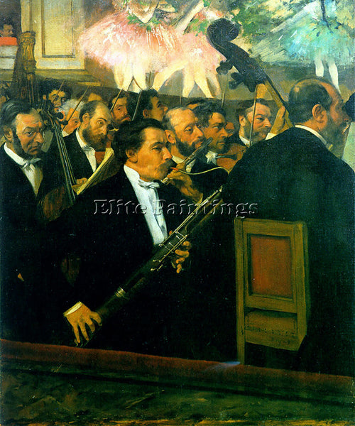 EDGAR DEGAS ORCHESTRA1 ARTIST PAINTING REPRODUCTION HANDMADE CANVAS REPRO WALL