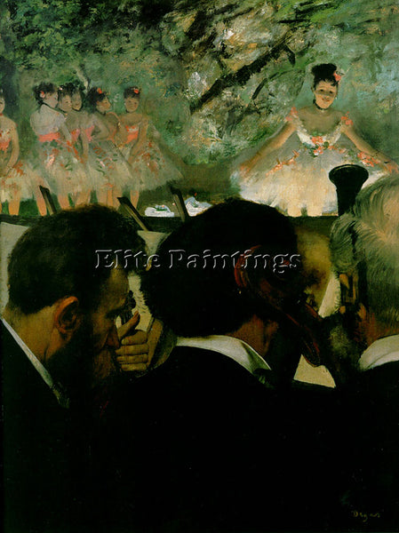 EDGAR DEGAS ORCHESTRA2 ARTIST PAINTING REPRODUCTION HANDMADE CANVAS REPRO WALL