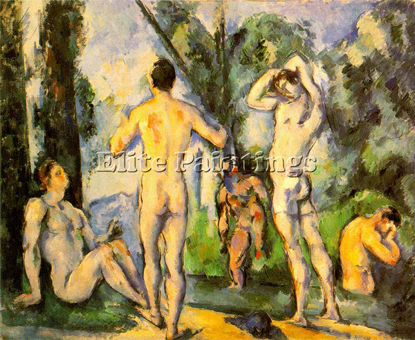 PAUL CEZANNE  BATHERS ARTIST PAINTING REPRODUCTION HANDMADE OIL CANVAS REPRO ART