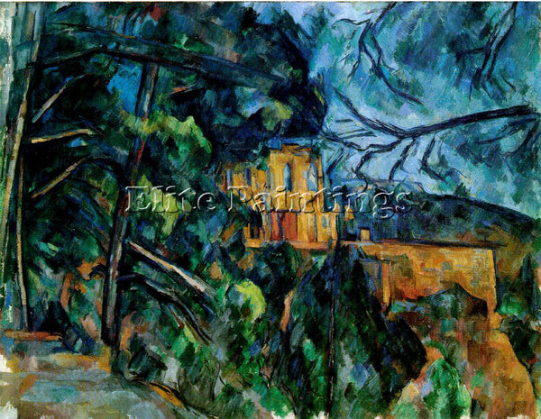 PAUL CEZANNE  CHATEAU ARTIST PAINTING REPRODUCTION HANDMADE OIL CANVAS REPRO ART