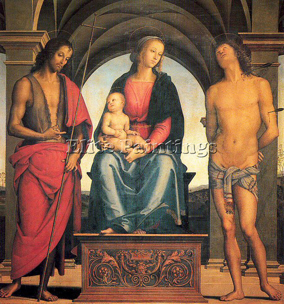PIETRO VANNUCCI PERUGINO25 ARTIST PAINTING REPRODUCTION HANDMADE OIL CANVAS DECO