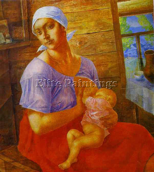 PETROV-VODKIN KUZMA PZ10 ARTIST PAINTING REPRODUCTION HANDMADE CANVAS REPRO WALL