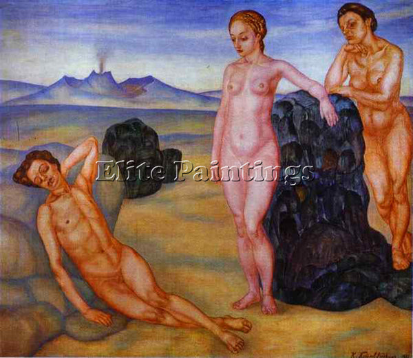 PETROV-VODKIN KUZMA PZ3 ARTIST PAINTING REPRODUCTION HANDMADE CANVAS REPRO WALL
