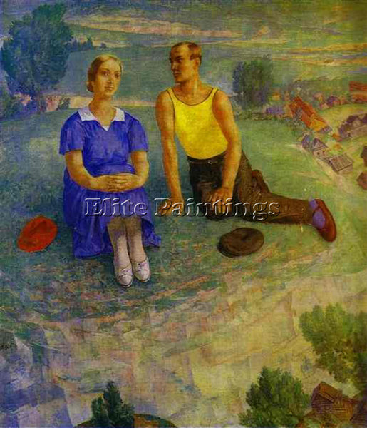 PETROV-VODKIN KUZMA PZ42 ARTIST PAINTING REPRODUCTION HANDMADE CANVAS REPRO WALL