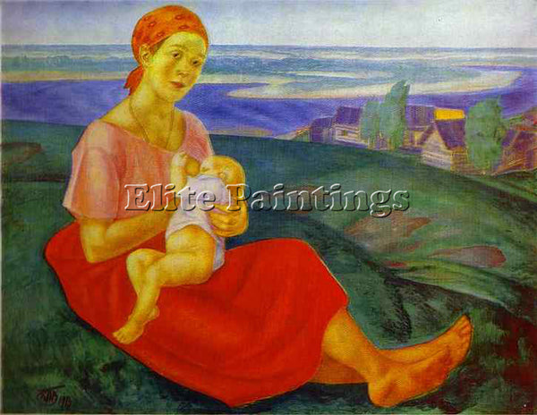 PETROV-VODKIN KUZMA PZ9 ARTIST PAINTING REPRODUCTION HANDMADE CANVAS REPRO WALL