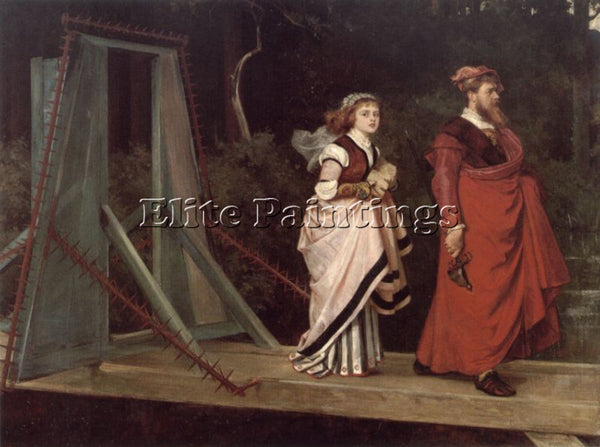 BRITISH PHILIP HERMOGENES CALDERON WHITHER ARTIST PAINTING REPRODUCTION HANDMADE