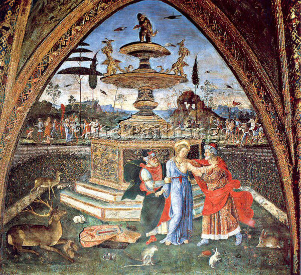 PINTURICCHIO BERNARDINO DI BETTO PINTU9 ARTIST PAINTING REPRODUCTION HANDMADE