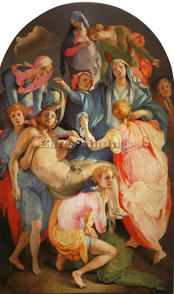 JACOPO DA PONTORMO JDP8 ARTIST PAINTING REPRODUCTION HANDMADE CANVAS REPRO WALL
