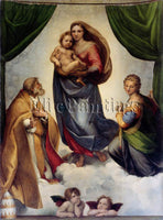 FAMOUS PAINTINGS RAPHAEL THE MADONNA 1016817 ARTIST PAINTING HANDMADE OIL CANVAS