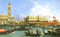 FAMOUS PAINTINGS RETURN BUCCINTORO VENICE HI ARTIST PAINTING HANDMADE OIL CANVAS