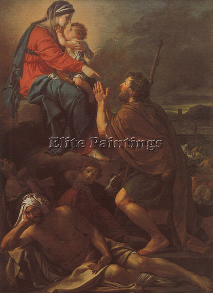 JACQUES-LOUIS DAVID SAINT ROCH CGF ARTIST PAINTING REPRODUCTION HANDMADE OIL ART