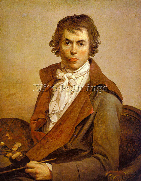 JACQUES-LOUIS DAVID SELF PORTRAIT CGF ARTIST PAINTING REPRODUCTION HANDMADE OIL