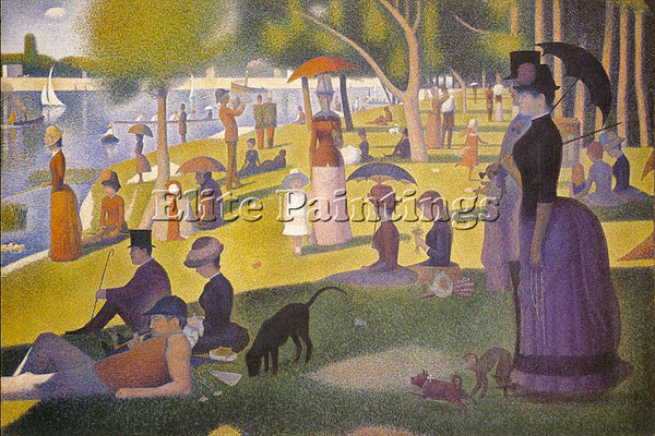 GEORGES SEURAT SEU1 ARTIST PAINTING REPRODUCTION HANDMADE CANVAS REPRO WALL DECO