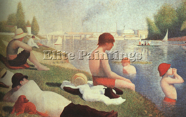 GEORGES SEURAT SEU8 ARTIST PAINTING REPRODUCTION HANDMADE CANVAS REPRO WALL DECO