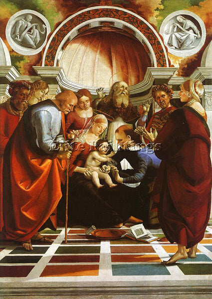 LUCA SIGNORELLI SIGN1 ARTIST PAINTING REPRODUCTION HANDMADE OIL CANVAS REPRO ART