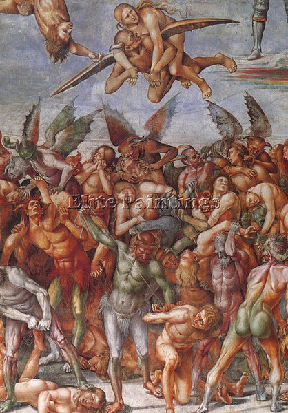 LUCA SIGNORELLI SIGN5 ARTIST PAINTING REPRODUCTION HANDMADE OIL CANVAS REPRO ART