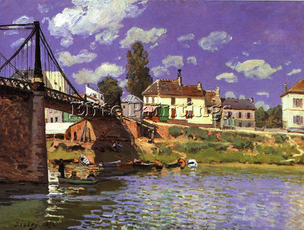 ALFRED SISLEY SIS10 ARTIST PAINTING REPRODUCTION HANDMADE CANVAS REPRO WALL DECO