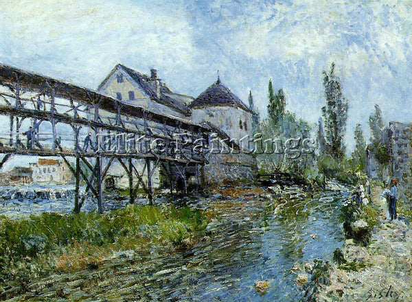 ALFRED SISLEY SIS3 ARTIST PAINTING REPRODUCTION HANDMADE CANVAS REPRO WALL DECO