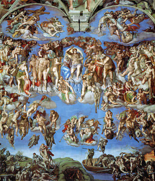FAMOUS PAINTINGS SISTINE CHAPEL 3105 ARTIST PAINTING REPRODUCTION HANDMADE OIL