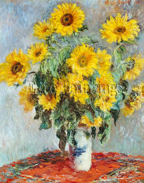 FAMOUS PAINTINGS SUNFLOWER BOUQUET ARTIST PAINTING REPRODUCTION HANDMADE OIL ART