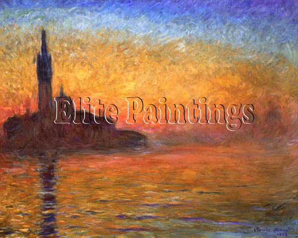 FAMOUS PAINTINGS SONNENUNTERGENG ARTIST PAINTING REPRODUCTION HANDMADE OIL REPRO