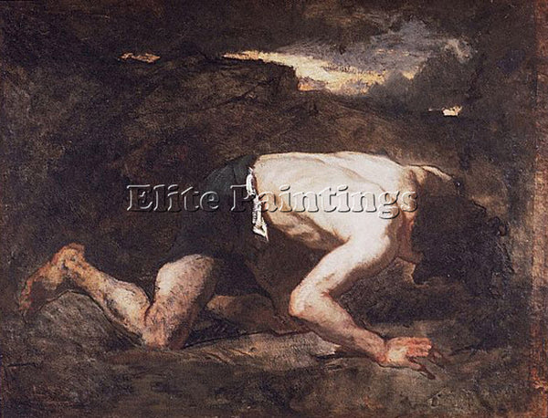 THOMAS COUTURE THE FUGITIVE THOMAS  ARTIST PAINTING REPRODUCTION HANDMADE OIL