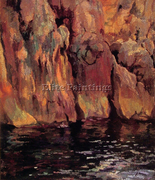 SPANISH THE GROTTO ARTIST PAINTING REPRODUCTION HANDMADE CANVAS REPRO WALL DECO