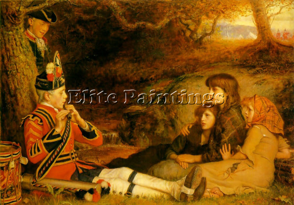 JOHN EVERETT MILLAIS THE PIPER ARTIST PAINTING REPRODUCTION HANDMADE OIL CANVAS