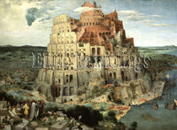 FAMOUS PAINTINGS TOWER OF BABEL ARTIST PAINTING REPRODUCTION HANDMADE OIL CANVAS