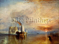 FAMOUS PAINTINGS TURNER THE LAST RIDE OF THE TEMERAIRE 375 ARTIST PAINTING REPRO