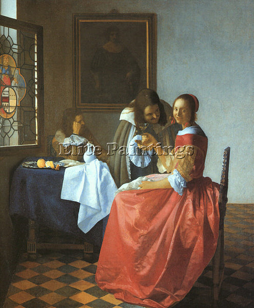 JAN VERMEER VERM10 ARTIST PAINTING REPRODUCTION HANDMADE CANVAS REPRO WALL DECO