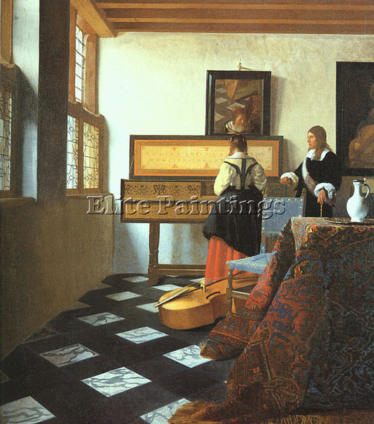 JAN VERMEER VERM12 ARTIST PAINTING REPRODUCTION HANDMADE CANVAS REPRO WALL DECO