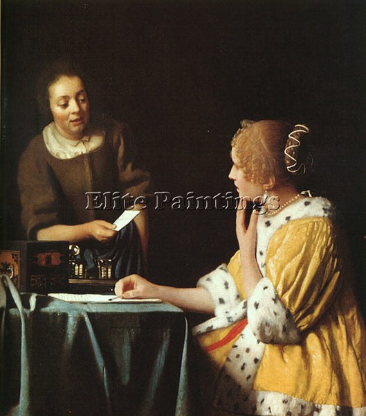 JAN VERMEER VERM13 ARTIST PAINTING REPRODUCTION HANDMADE CANVAS REPRO WALL DECO
