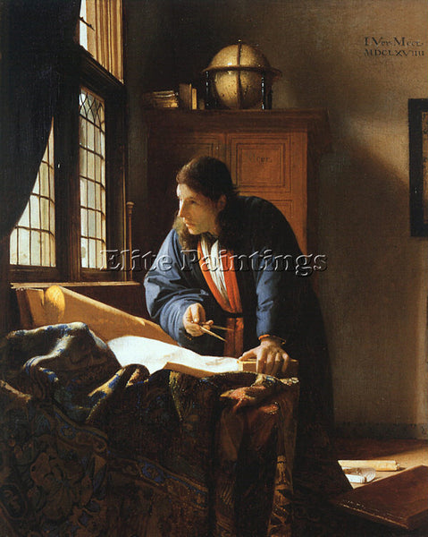 JAN VERMEER VERM15 ARTIST PAINTING REPRODUCTION HANDMADE CANVAS REPRO WALL DECO