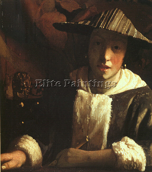 JAN VERMEER VERMR1 ARTIST PAINTING REPRODUCTION HANDMADE CANVAS REPRO WALL DECO