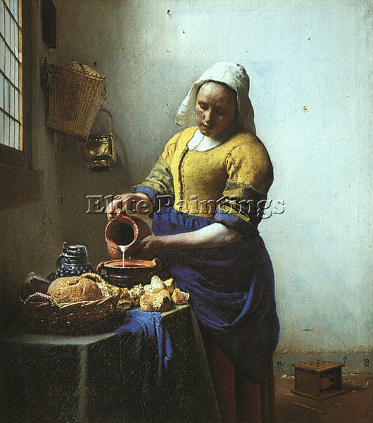 JAN VERMEER VERMR2 ARTIST PAINTING REPRODUCTION HANDMADE CANVAS REPRO WALL DECO