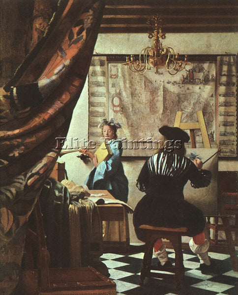 JAN VERMEER VERMR4 ARTIST PAINTING REPRODUCTION HANDMADE CANVAS REPRO WALL DECO