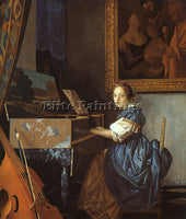 JAN VERMEER VERMR5 ARTIST PAINTING REPRODUCTION HANDMADE CANVAS REPRO WALL DECO