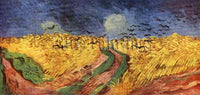 FAMOUS PAINTINGS WHEATFIELD RAVEN HI ARTIST PAINTING REPRODUCTION HANDMADE OIL