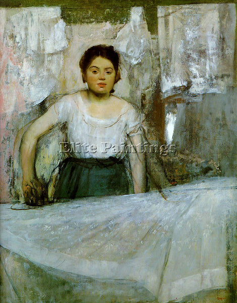 EDGAR DEGAS WOMAN IRONING ARTIST PAINTING REPRODUCTION HANDMADE OIL CANVAS REPRO