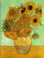 FAMOUS PAINTINGS TWELVE SUNFLOWERS VASE GRUE HI ARTIST PAINTING REPRODUCTION OIL