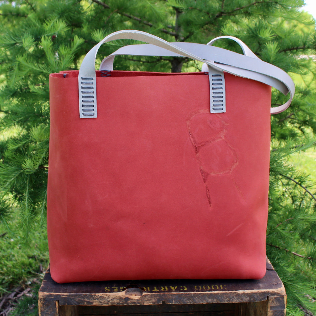 Branded Leather Tote Bag