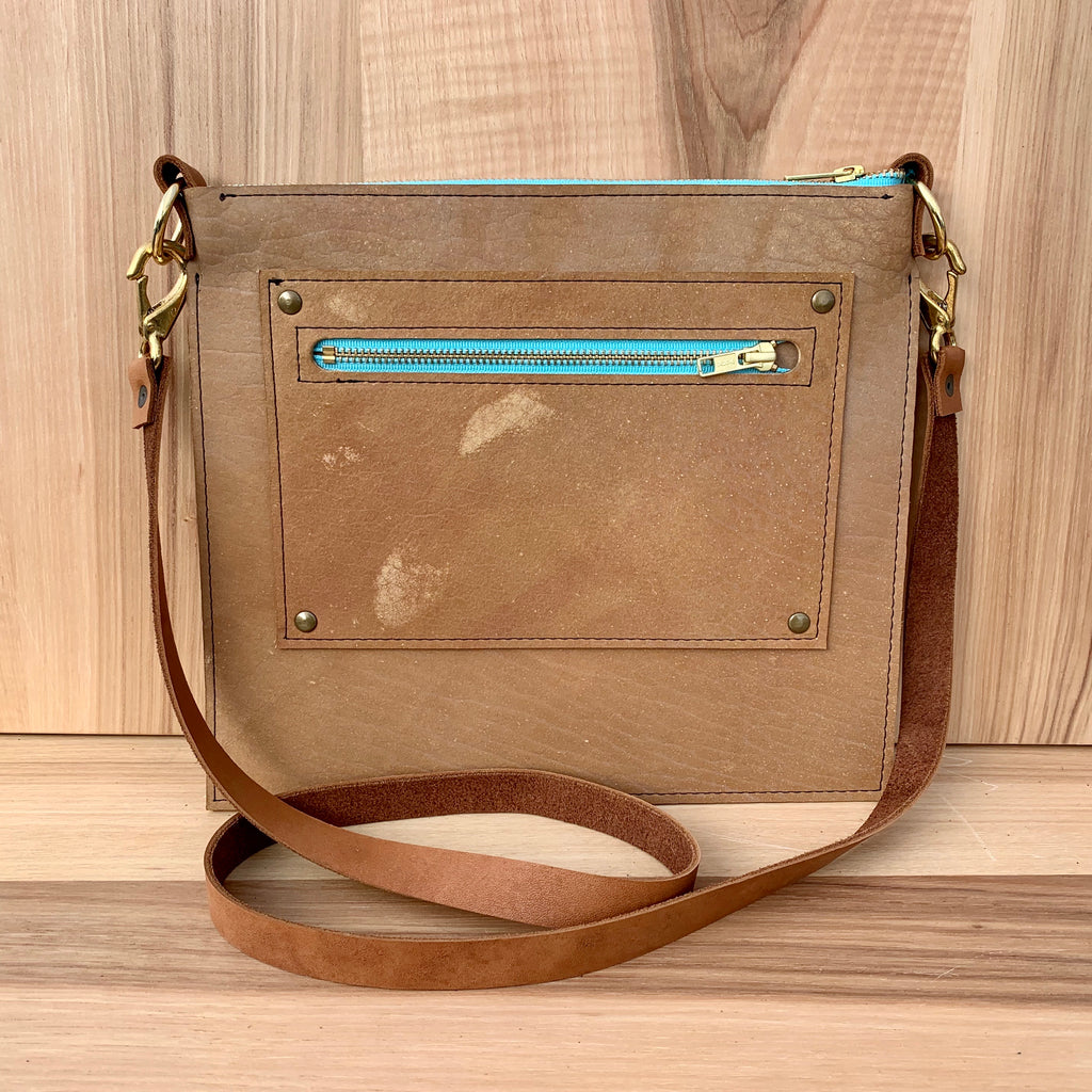 Bison Leather Crossbody Bag