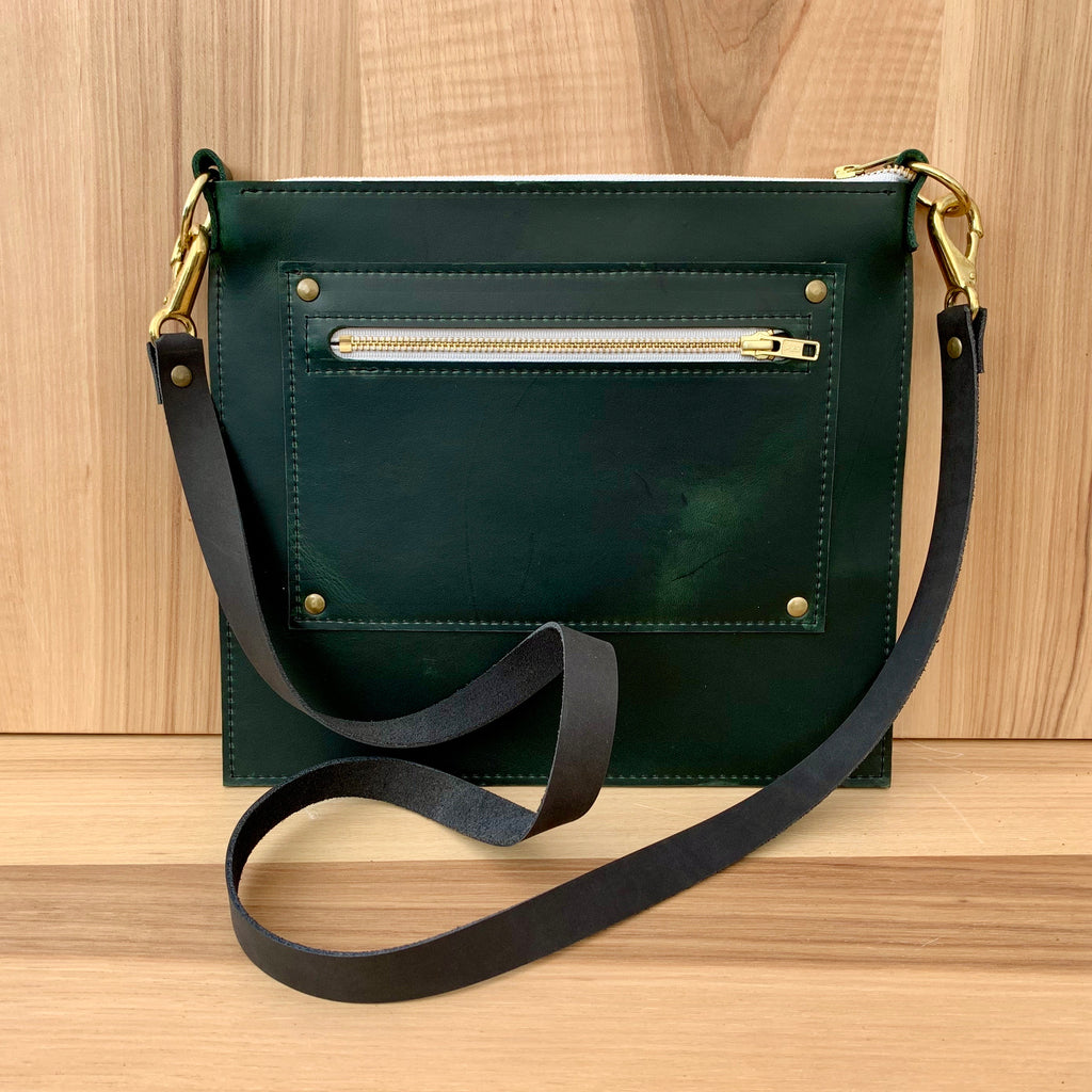 Branded Leather Crossbody Bag