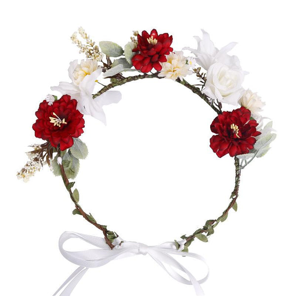 Bohemian artificial flower bride holiday headwear