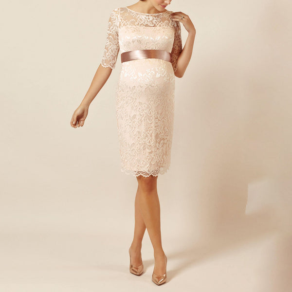Pregnant womens lace wedding short dress