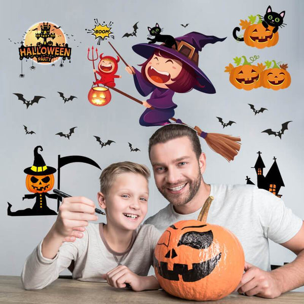 Halloween Pumpkin Wall Stickers