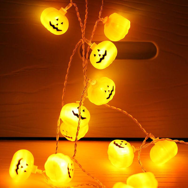 Halloween String Lights Pumpkin Ghost Bat Festival Home Decor